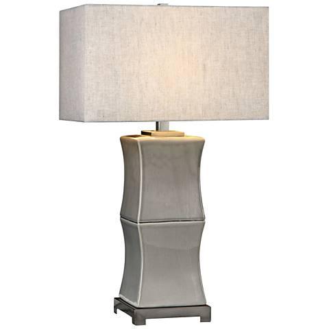 Uttermost Arris Gray Ceramic Table Lamp