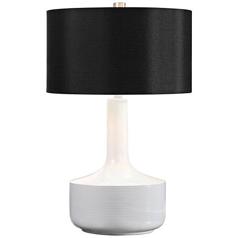 Uttermost Drenova Gloss White Ceramic Table Lamp
