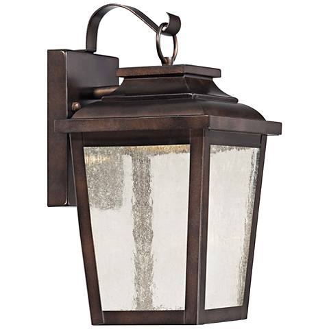 "Irvington Manor 12"" High Bronze LED Outdoor Wall Light"