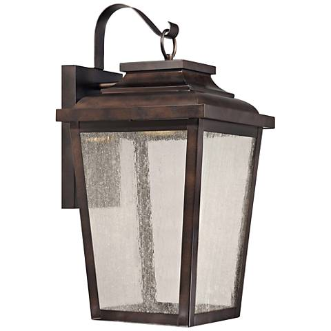 "Irvington Manor 20 3/4"" High Bronze LED Outdoor Wall Light"