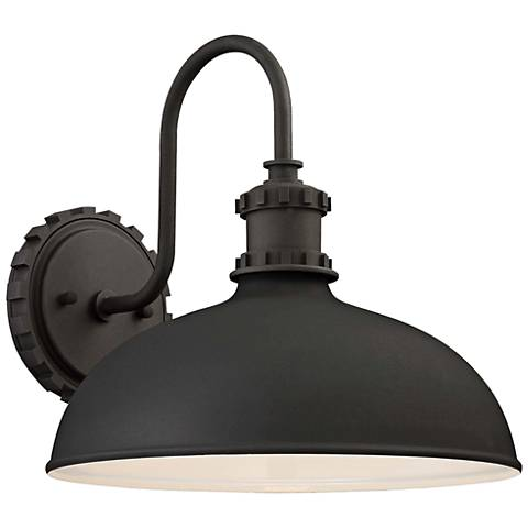 "Escudilla 11 3/4"" High Black Outdoor Wall Light"