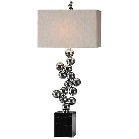Uttermost Kesi Silver and Black Table Lamp
