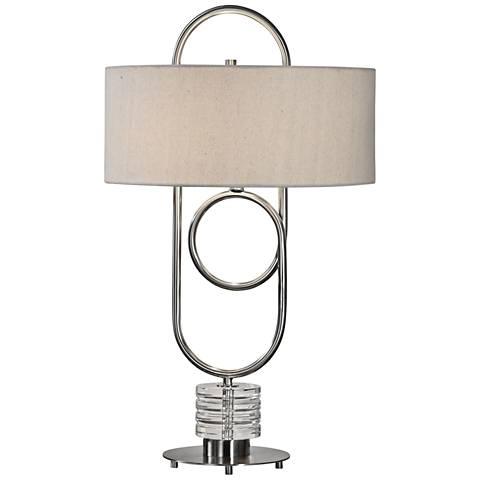Uttermost Vaaler Brushed Nickel Table Lamp