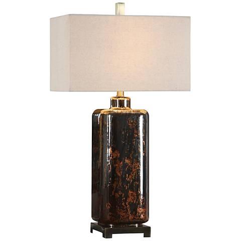 Uttermost Vanoise Rust Bronze Mercury Glass Table Lamp