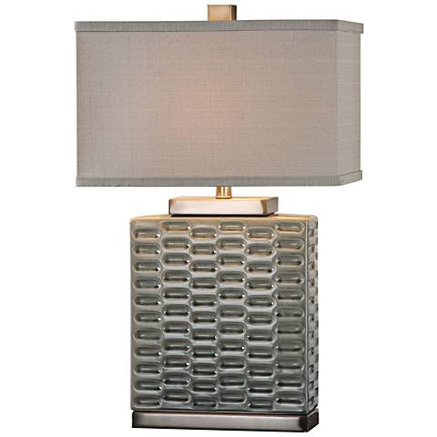 Uttermost Virelles Gray Ceramic Table Lamp
