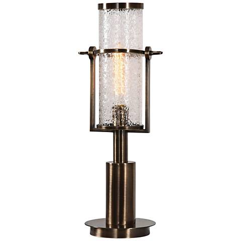 Uttermost Marrave Antique Brass Iron Accent Table Lamp