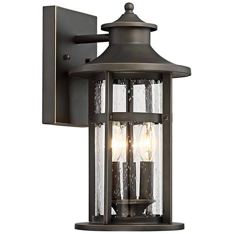 "Highland Ridge 15"" High Bronze Outdoor Wall Light"