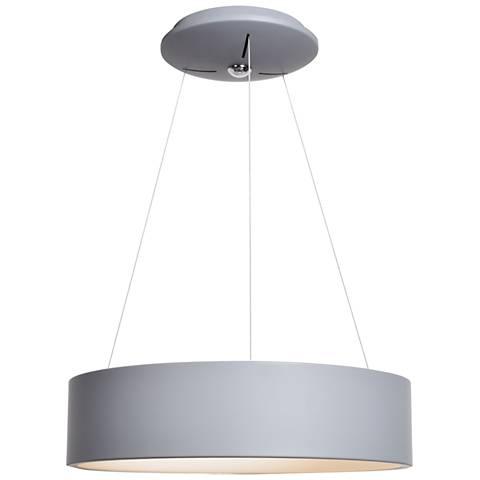 """Radiant 17 3/4"""" Wide Gray LED Pendant Light"""