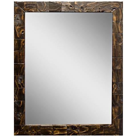 "Granularity Espresso 27 1/2"" x 33 1/2"" Wall Mirror"