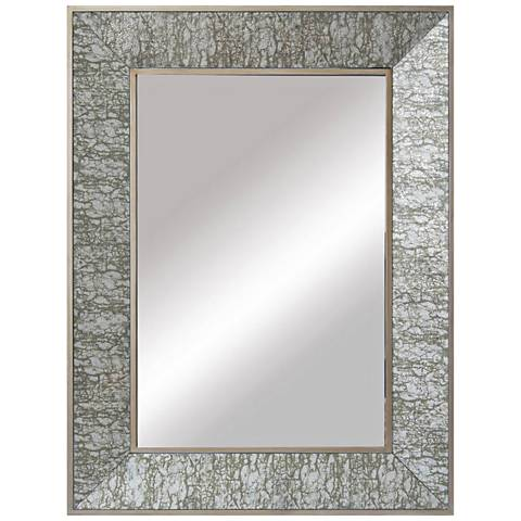 """Crestview Collection Bark Silver 36"""" x 48"""" Wall Mirror"""