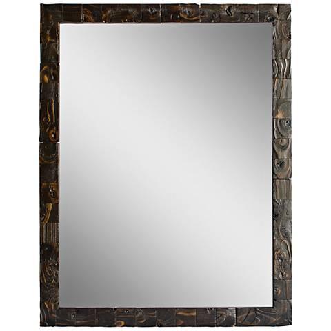 "Granularity Espresso 35 1/2"" x 45 1/2"" Wall Mirror"