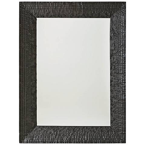 "Kyoto Matte Black 36"" x 47 3/4"" Wall Mirror"