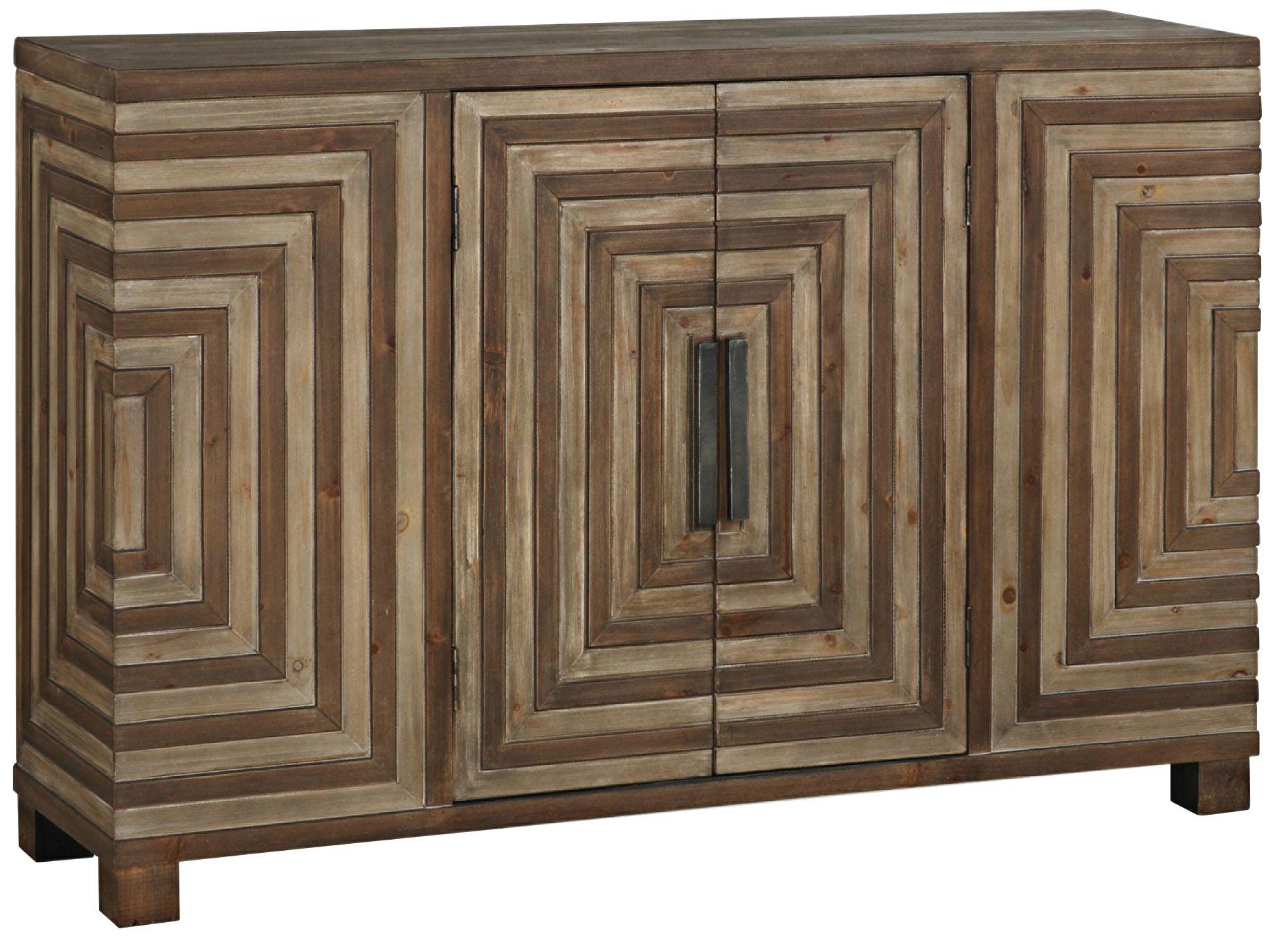 Uttermost Layton Rustic 2 Door Wood Console Cabinet