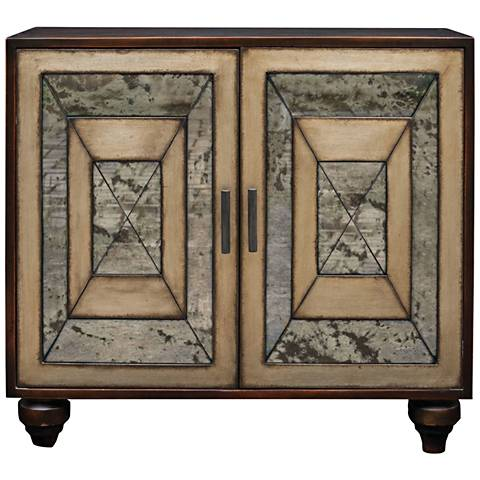 Uttermost Caroline Worn Black 2-Door Accent Cabinet