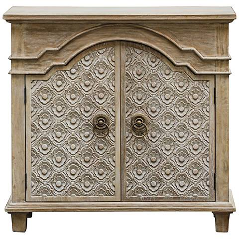 Uttermost Allaire Aged Ivory 2-Door Wood Accent Cabinet