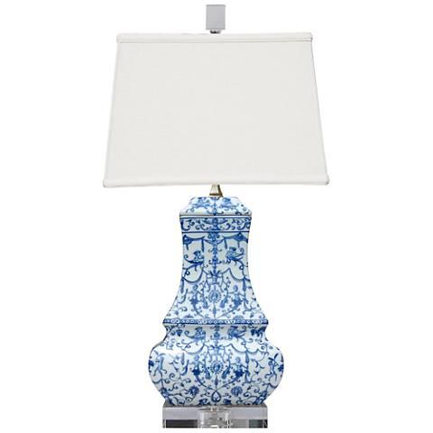 Avon Blue and White Porcelain Table Lamp