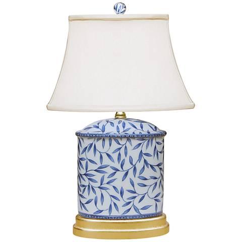 "Yangtze 19 1/2""H Blue and White Porcelain Accent Table Lamp"