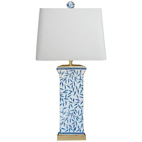 Yangtze Blue and White Porcelain Column Table Lamp