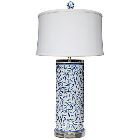 Yangtze Blue and White Porcelain Cylinder Table Lamp