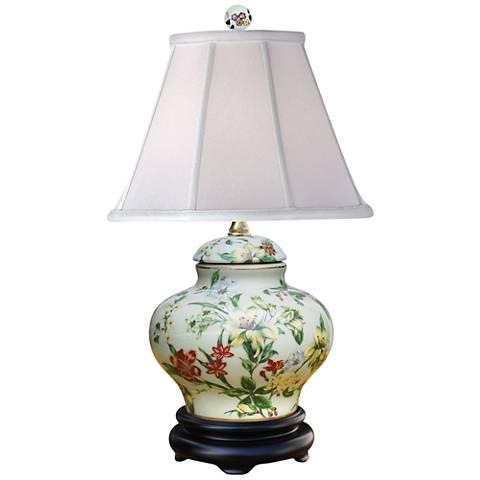 """Devin Multi-Color 16"""" High Porcelain Accent Table Lamp"""