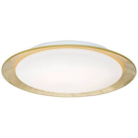 """Besa Tuca 15 1/2""""W Gold Foil Opal Matte LED Ceiling Light"""