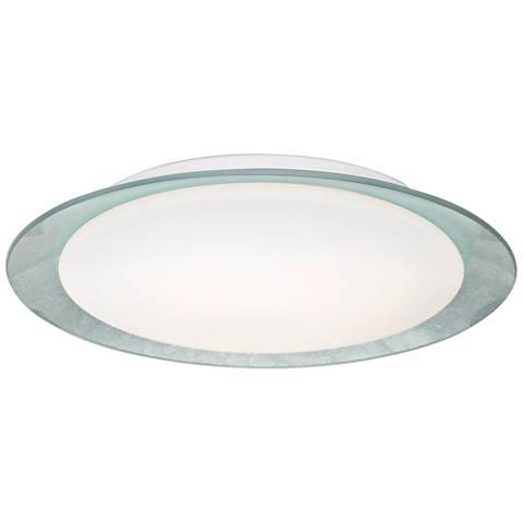 """Besa Tuca 15 1/2""""W Silver Foil Opal Matte LED Ceiling Light"""