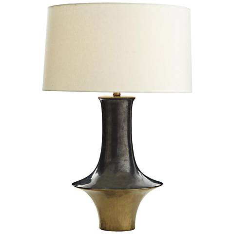 Hillcrest Gold and Gunmetal Porcelain Table Lamp