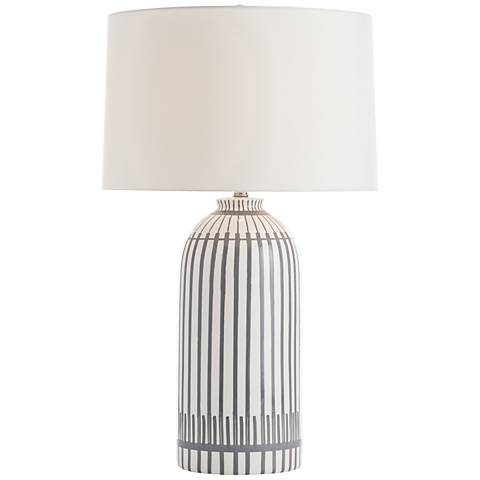 Hoover White and Dove Gray Porcelain Table Lamp