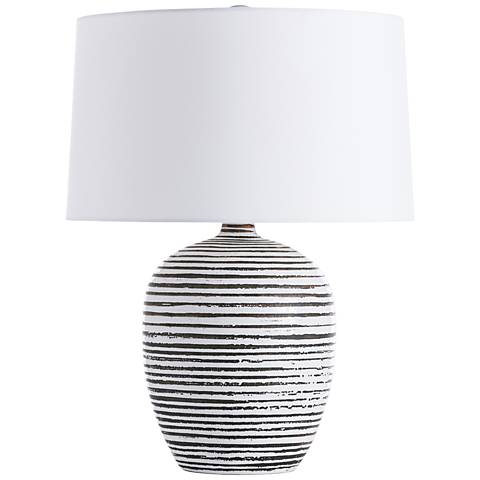 Galveston White Crackle Charcoal Wash Accent Table Lamp