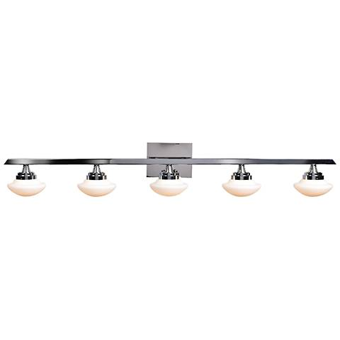 """Atomiser 41"""" Wide Chrome 5-LED Bath Light"""