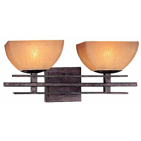 """Lineage Collection 18 1/8""""W Iron Oxide 2-Light Bath Light"""