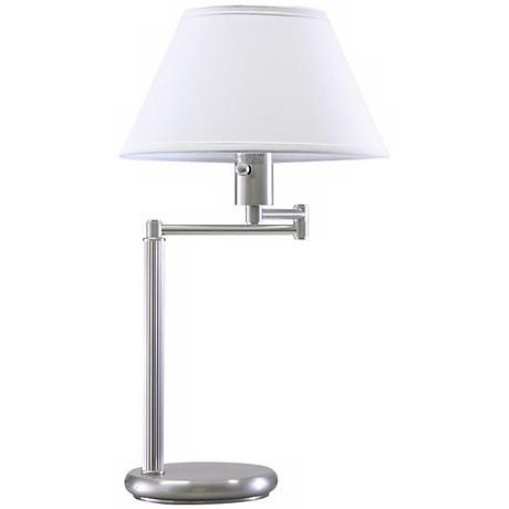 Home Office Swing Arm Satin Nickel Desk Lamp