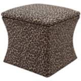 Jennifer Taylor Holly Leopard Print Fabric Storage Ottoman