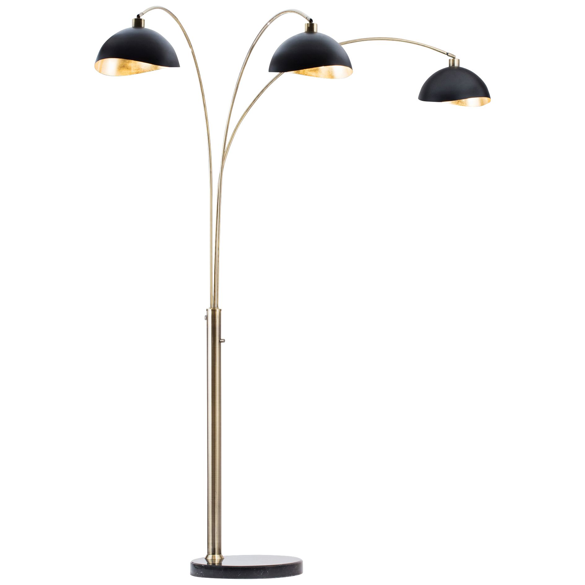 nova luna bella weathered brass 3light arc floor lamp