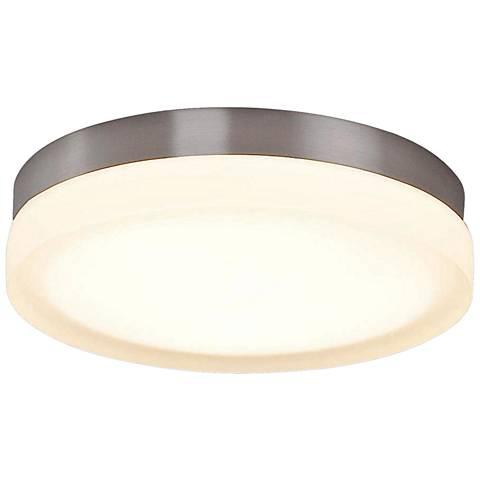 "dweLED Slice 9"" Wide Brushed Nickel Round LED Ceiling Light"