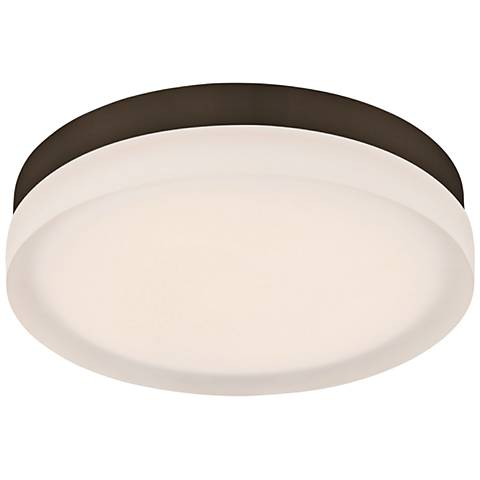"dweLED Slice 9"" Wide Bronze Round LED Ceiling Light"