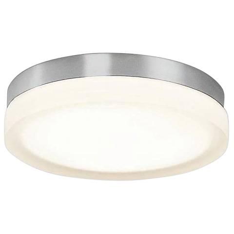 "dweLED Slice 11"" Wide Brushed Nickel Round LED Ceiling Light"