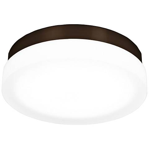 "dweLED Slice 11"" Wide Bronze Round LED Ceiling Light"
