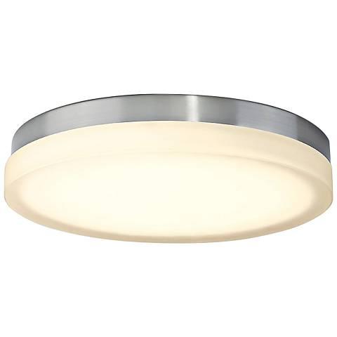 "dweLED Slice 15"" Wide Brushed Nickel Round LED Ceiling Light"