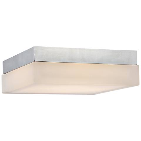 "dweLED Dice 6"" Wide Chrome Square LED Ceiling Light"