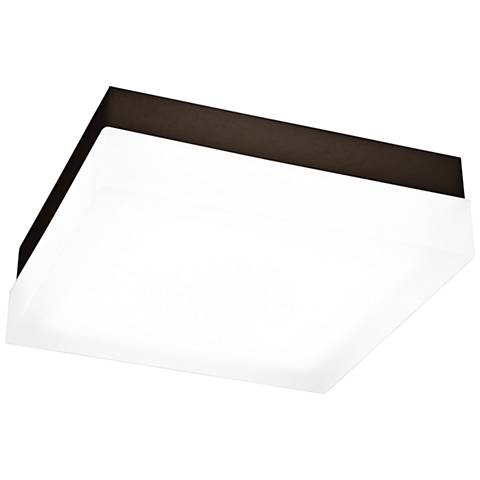 """dweLED Dice 9"""" Wide Bronze Square LED Ceiling Light"""
