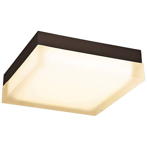 """dweLED Dice 12"""" Wide Bronze Square LED Ceiling Light"""