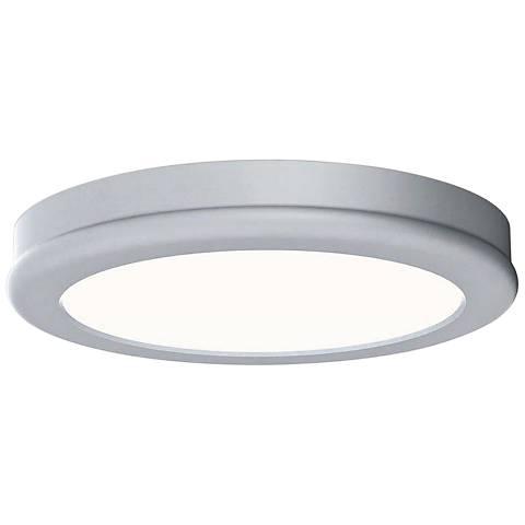 "dweLED Geos 6"" Wide Titanium LED Ceiling Light"