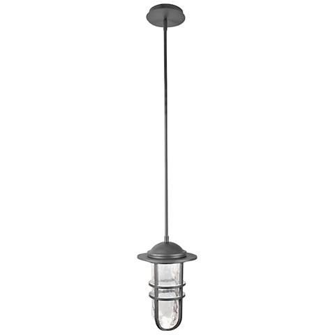 """dweLED Steampunk 13"""" High Graphite LED Outdoor Hanging Light"""