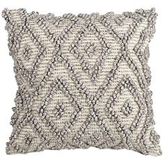 "Diamond Gray 20"" Square Throw Pillow"