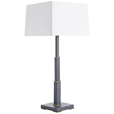 Arteriors Home Howard Gray Shagreen Leather Table Lamp