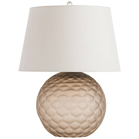 Arteriors Home Geraldine Frosted Tobacco Glass Table Lamp
