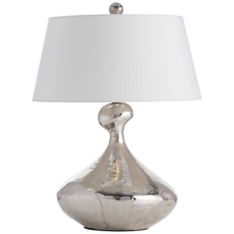 Arteriors Home Gibbons Hammered Antique Silver Table Lamp