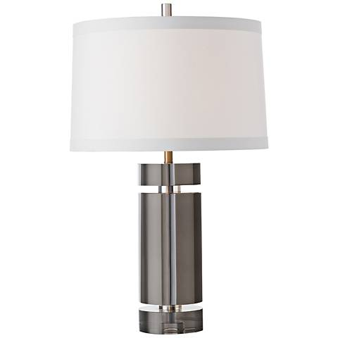 Arteriors Home Gerlich Smoke Crystal Table Lamp