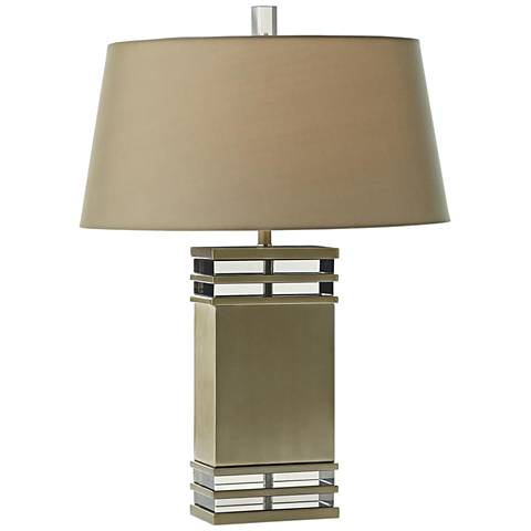 Arteriors Home Gannon Pale Brass w/ Smoke Crystal Table Lamp